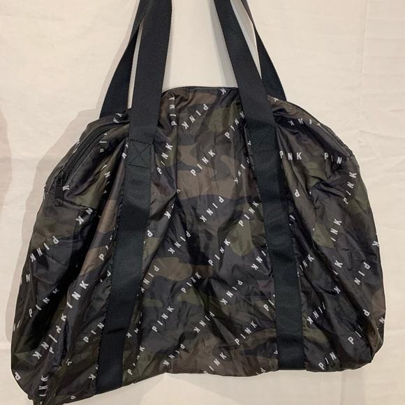 PINK Handbags - PINK duffel bag black and camouflage print